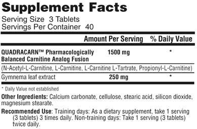 QuadraCarn Supplement Fatcs